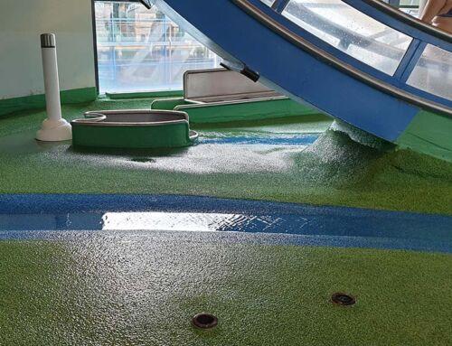 Therme Loipersdorf in der Steiermark freut sich über den neuen Belag im Wasserspielraum