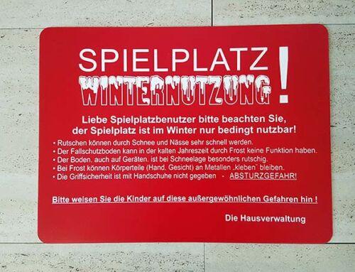 Winterfit? – Schenken Sie Ihrem Spielplatz auch im Winter Beachtung!